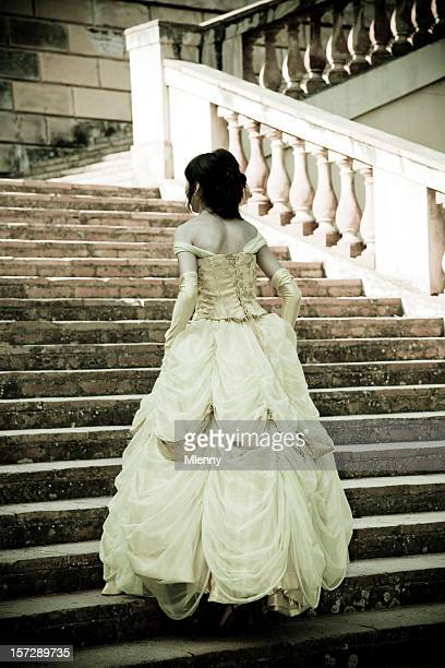 young princess, up the stairs.