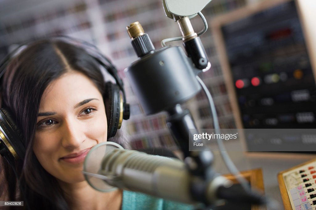 Young Radio Announcer