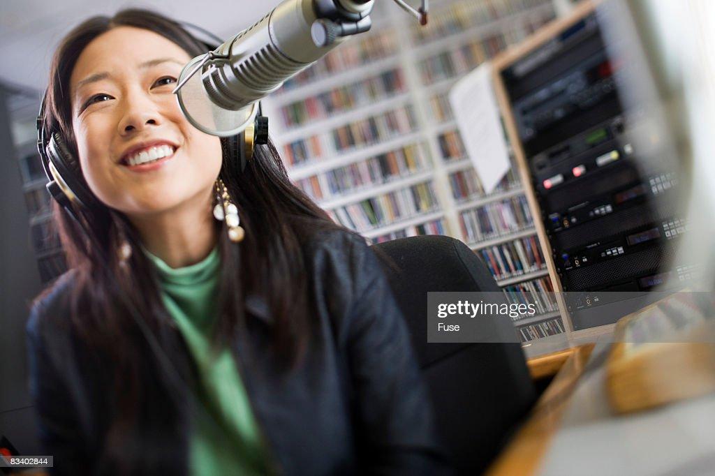Young Radio Announcer Stock Photo