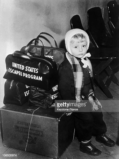 Young Refugee Waiting To Take The Plane With His Mother From Germany To The United States After His Father Failed To Flee From Budapest10000...