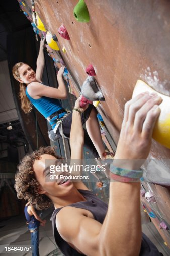 Young Rock Climbers at the Gym
