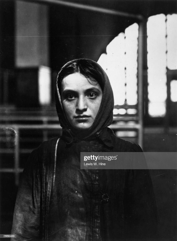 A young Russian Jewish immigrant at Ellis Island, New York.