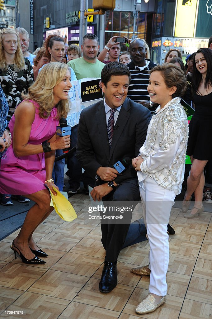 AMERICA - Young Sam Horowitz who created an internet sensation dancing at his Bar Mitzvah, appears on GOOD MORNING AMERICA, 9/14/13, airing on the ABC Television Network. LARA