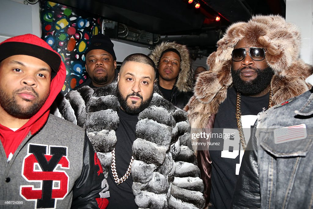 Young Sav, <a gi-track='captionPersonalityLinkClicked' href=/galleries/search?phrase=DJ+Khaled&family=editorial&specificpeople=577862 ng-click='$event.stopPropagation()'>DJ Khaled</a>, Vado, and Rick Ross attend Camron's KillaBowl at WIP on February 2, 2014 in New York City.