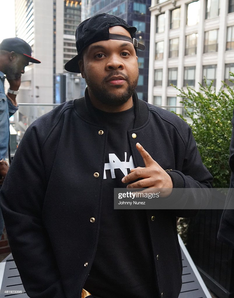 Young Savv attends Vado's 'My Bae' video shoot featuring Jeremih at The Griffin on April 1, 2014 in New York City.