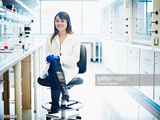Young scientist seated in research laboratory