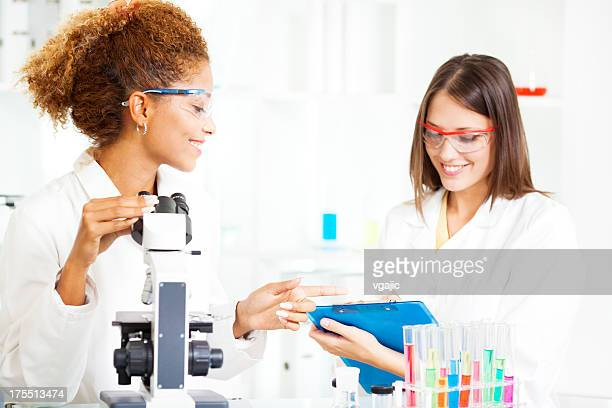 Young Scientists at work in a lab.