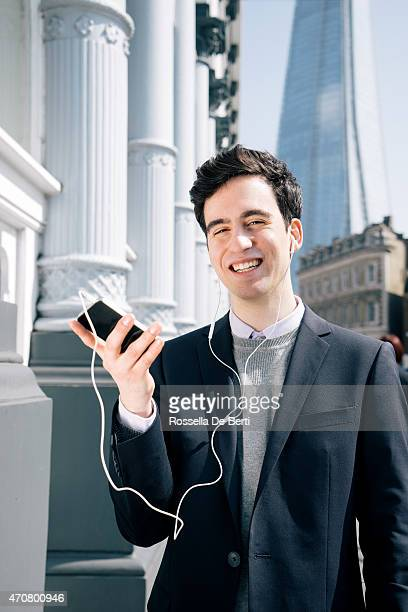 Young Smiling Businessman In London Making A Video Call