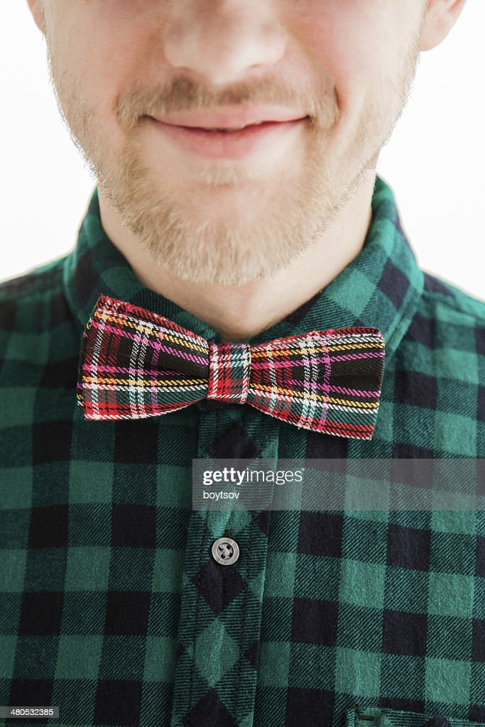 Young smiling man in bowtie : Stockfoto
