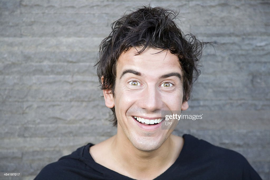 Jovem sorridente : Foto de stock