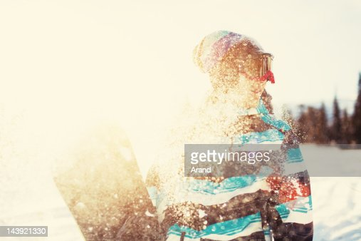 young snowboarder