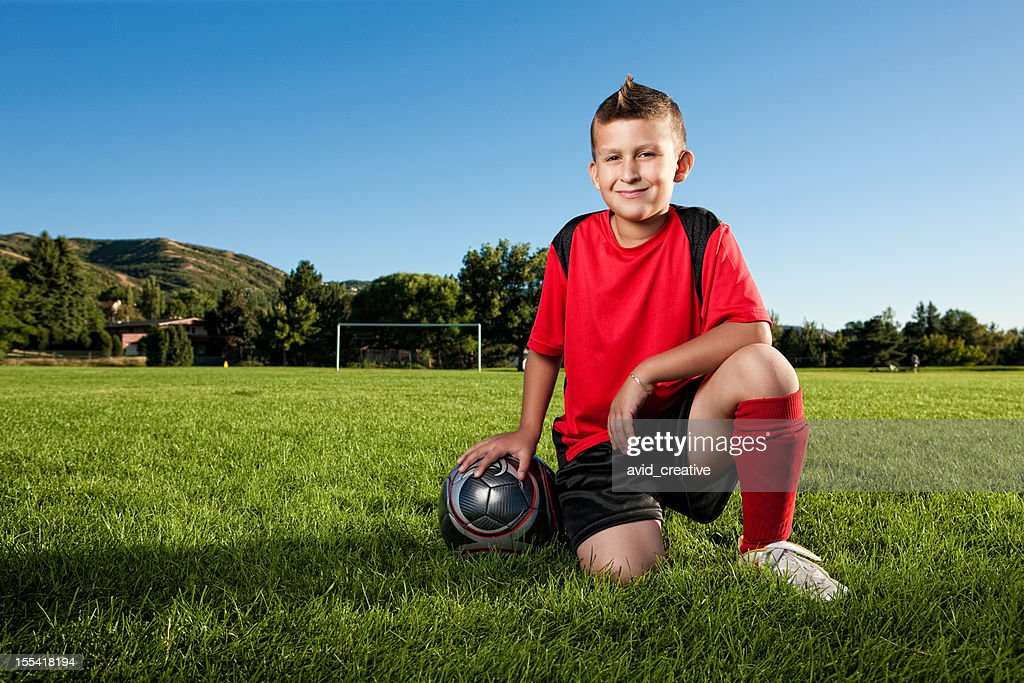 Young Soccer Player Portrait : Stock Photo