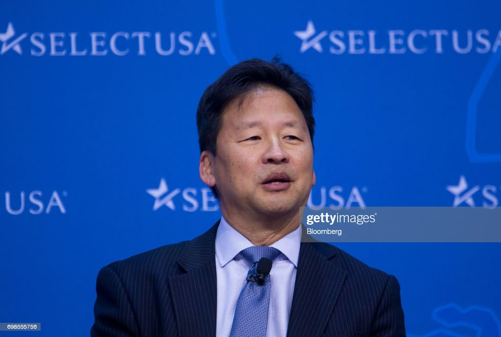 Young Sohn, president and chief strategy officer of Samsung Electronics Co., speaks during the SelectUSA Investment Summit in Oxon Hill, Maryland, U.S., on Tuesday, June 20, 2017. The SelectUSA Investment Summit brings together companies from all over the world, economic development organizations from every corner of the nation and other parties working to facilitate foreign direct investment (FDI) in the United States. Photographer: Eric Thayer/Bloomberg via Getty Images