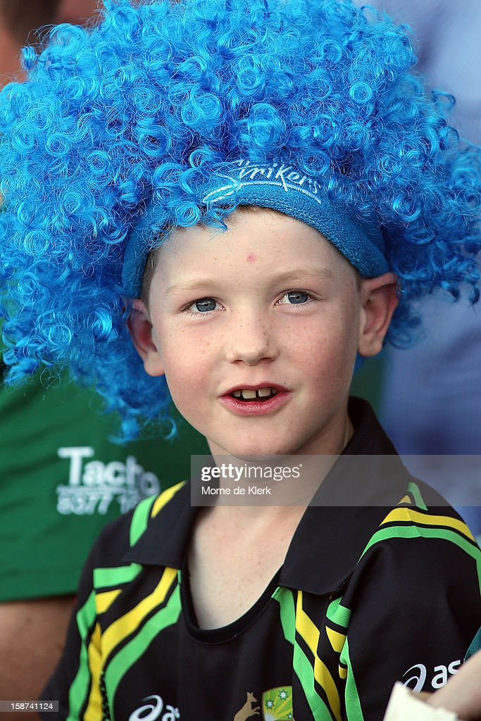 A young spectator enjoys the atmosphere during the Big Bash League match between the Adelaide Strikers and the Melbourne Stars at Adelaide Oval on December 27, 2012 in Adelaide, Australia.