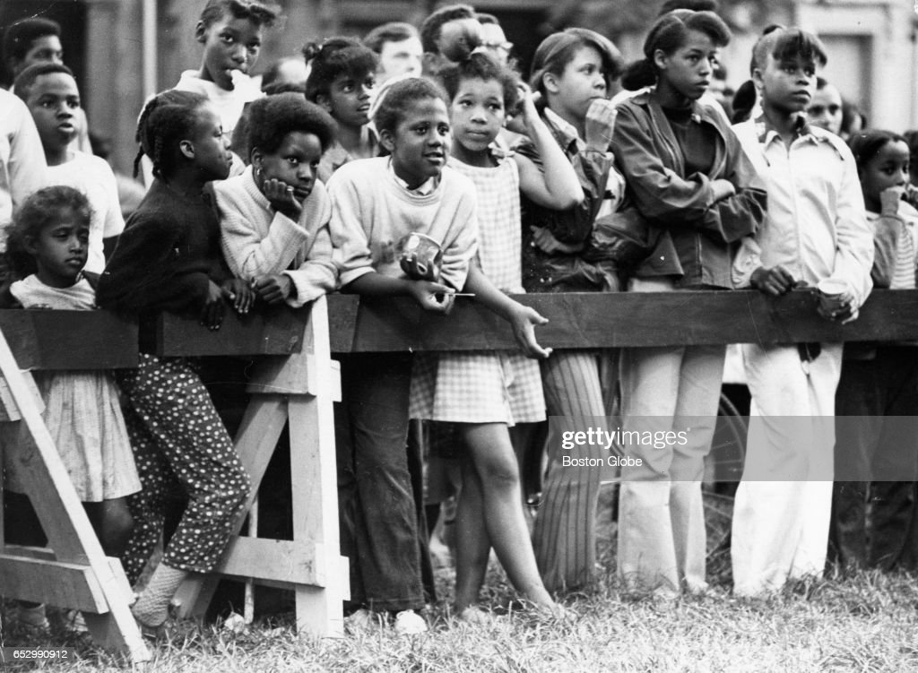 Young spectators watch Summerthing in Boston on July 7, 1969.