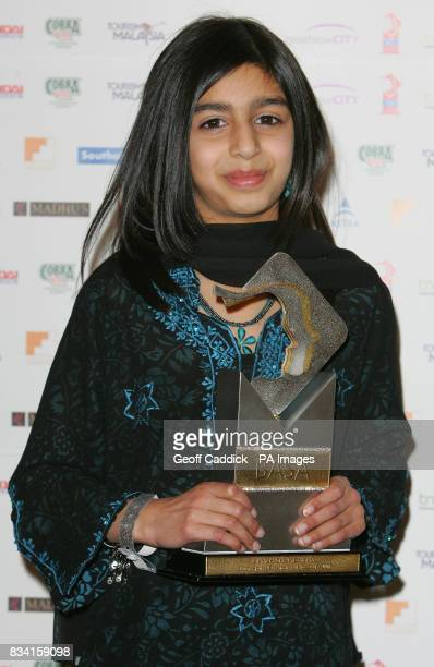 Young Sports Personality of the Year 2007 martial arts expert Maira Malik from Liverpool with her award after receiving it at the British Asian...