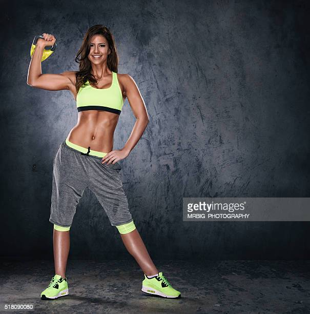 Young Sporty Women Exercise