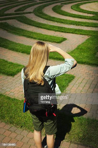 Young Student Puzzling Over Education, Schooling and Future Plan