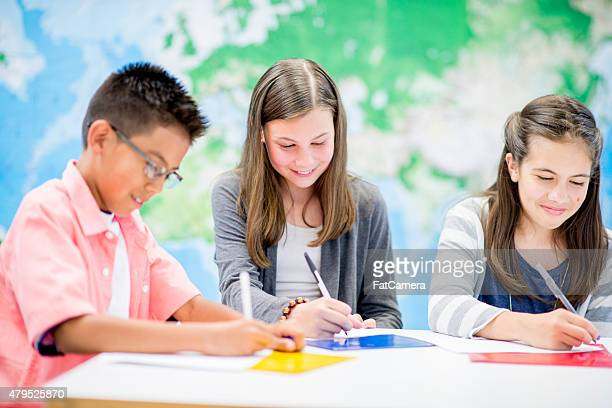 Young Students doing Arts and Crafts