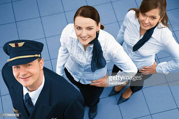 Young successful flight crew