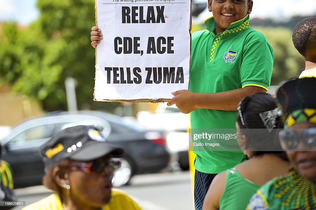 A young supporter at the University of the Freestate on December 17, 2012, in Bloemfontein, South Africa.
