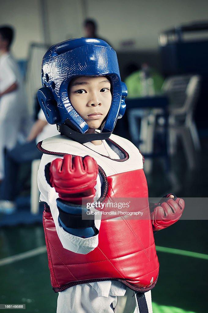 Young Taekwondo Fighter