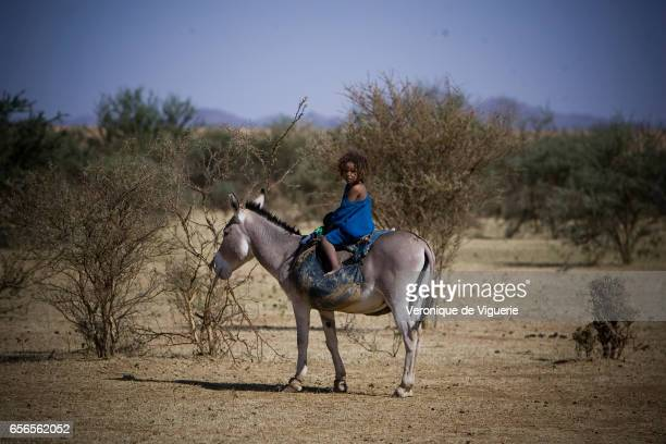 A young Tamashek Tuareg girl in Essouk They are nomadic pastoralists