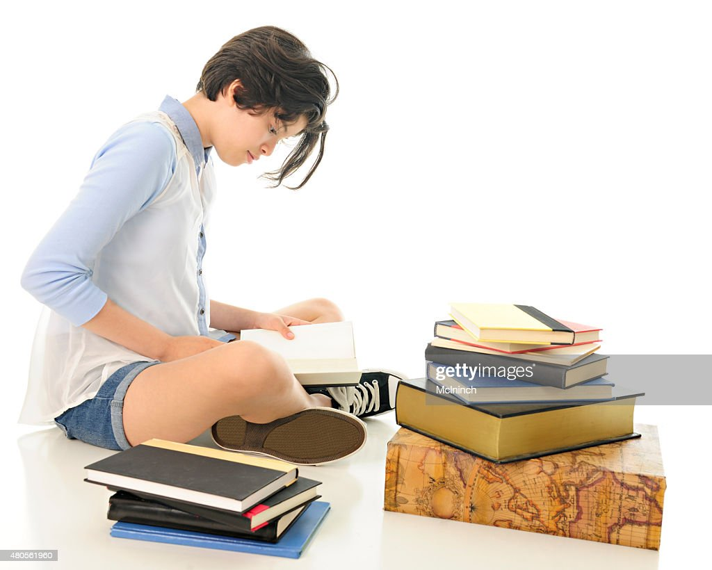 Young Teen Reading : Stock Photo