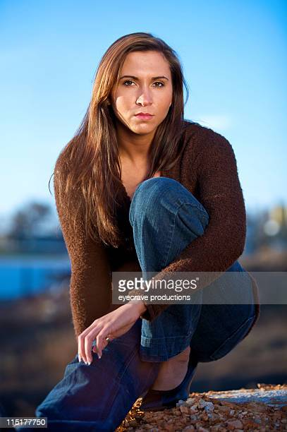 young teen woman portraits