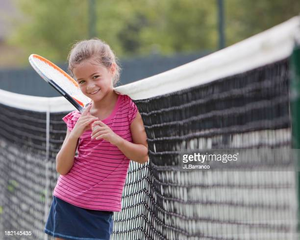 Young Tennis Player takes a Break