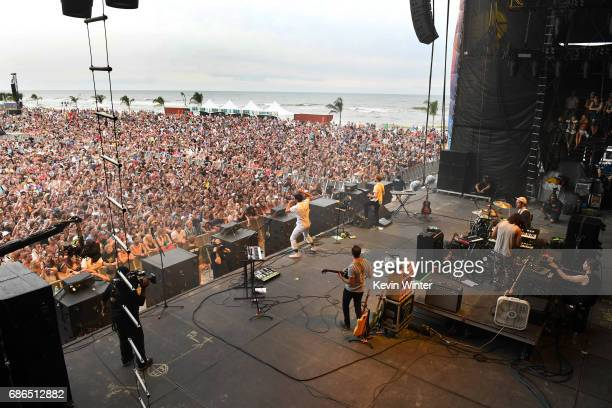 Young the Giant performs at the Hangout Stage during 2017 Hangout Music Festival on May 21 2017 in Gulf Shores Alabama