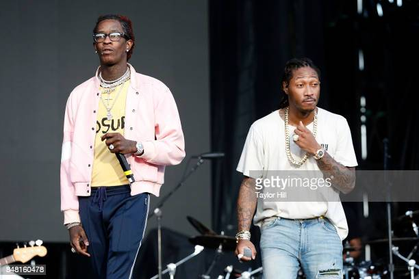 Young Thug and Future perform onstage during Day 2 at The Meadows Music Arts Festival at Citi Field on September 16 2017 in New York City