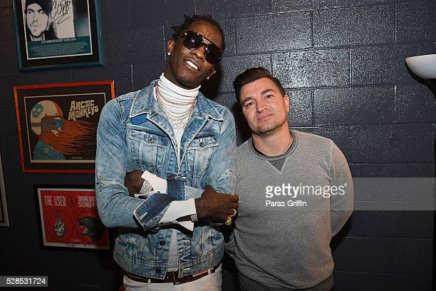 Young Thug and Jeff Zuchowski attend Pandora Presents The ATL at The Tabernacle on May 5 2016 in Atlanta Georgia