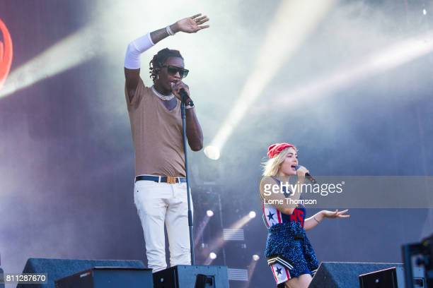Young Thug and Millie Go Lightly perform at Wireless Festival Day 2 at Finsbury Park on July 8 2017 in London England