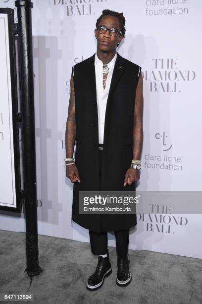 Young Thug attends Rihanna's 3rd Annual Diamond Ball Benefitting The Clara Lionel Foundation at Cipriani Wall Street on September 14 2017 in New York...