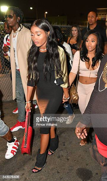 Young Thug Jerrika Karlae and Lira Galore seen on Hollywood on June 24 2016 in Los Angeles California