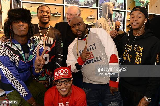 Young Thug Meek Mill President of Puma Jay Piccola Trae tha Truth Yung Booke and TI make a special appearance at The PUMA Lab Powered by Foot Locker...