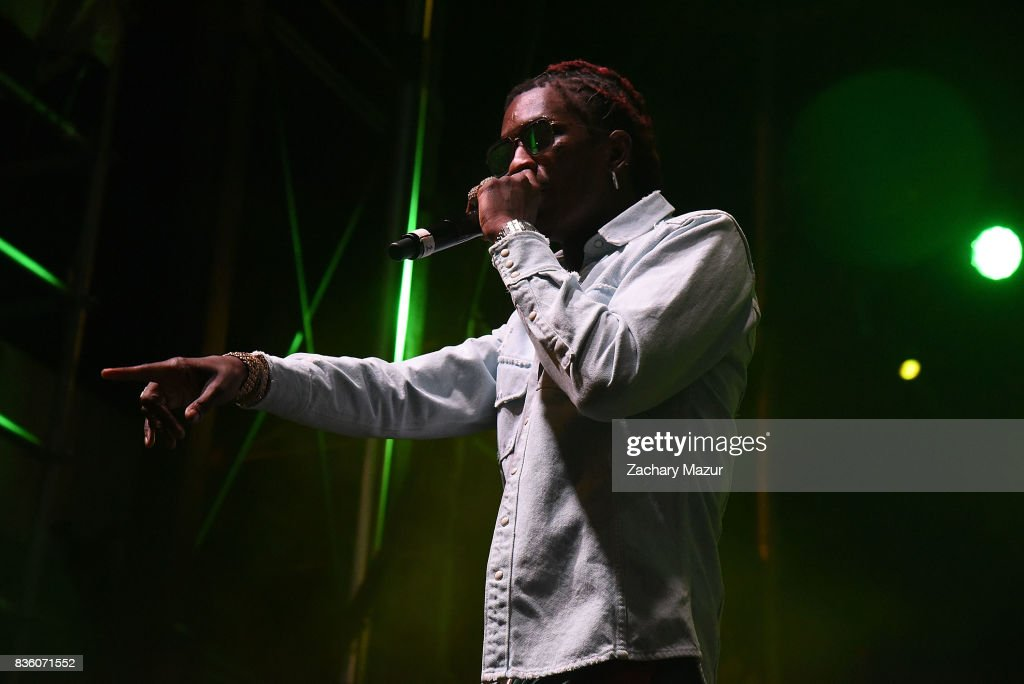 Young Thug performs at 2017 Billboard HOT 100 Music Festival at Northwell Health at Jones Beach Theater on August 20, 2017 in Wantagh, New York.