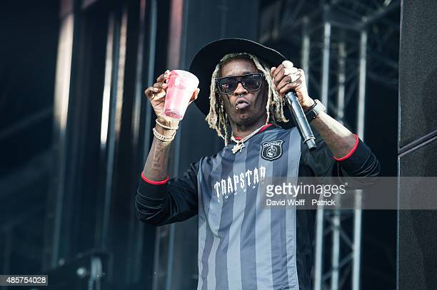 Young Thug performs at Domaine National de SaintCloud on August 29 2015 in Paris France