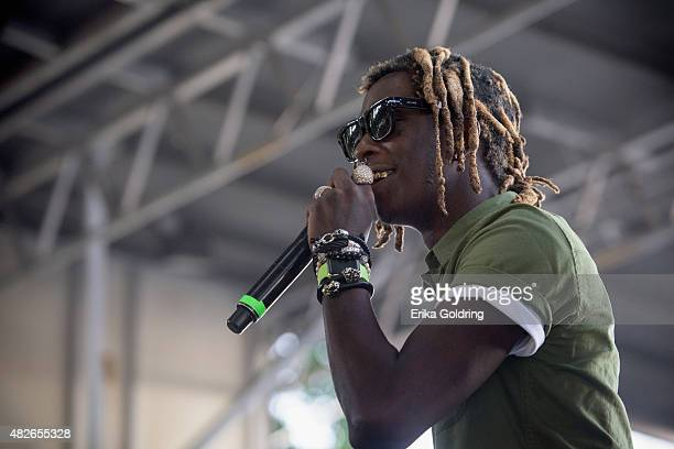 Young Thug performs at Grant Park on July 31 2015 in Chicago Illinois