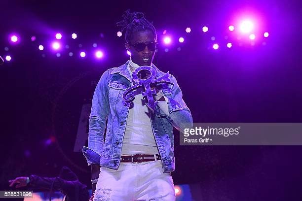 Young Thug performs at Pandora Presents The ATL at The Tabernacle on May 5 2016 in Atlanta Georgia