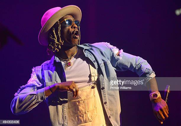 Young Thug performs in concert at The Tabernacle on October 25 2015 in Atlanta Georgia