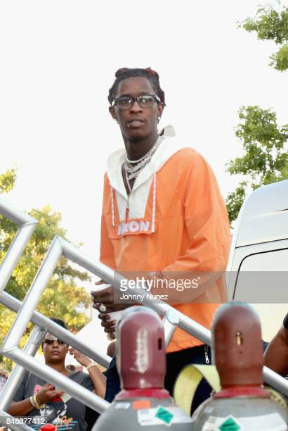 Young Thug seen backstage during the Meadows Music and Arts Festival Day 2 at Citi Field on September 16 2017 in New York City