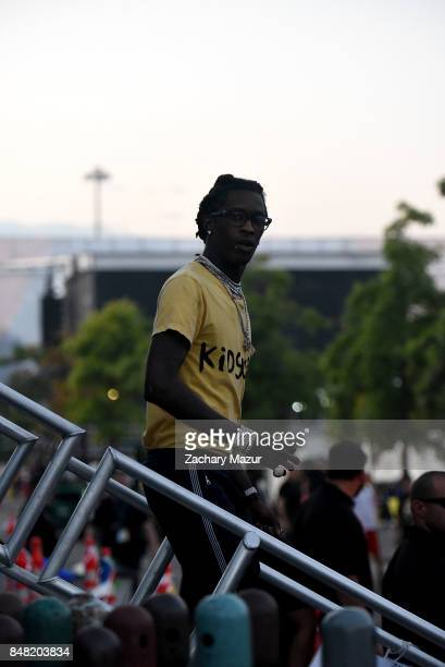 Young Thug seen during day 2 of The Meadows Music Arts Festival at Citi Field on September 16 2017 in New York City