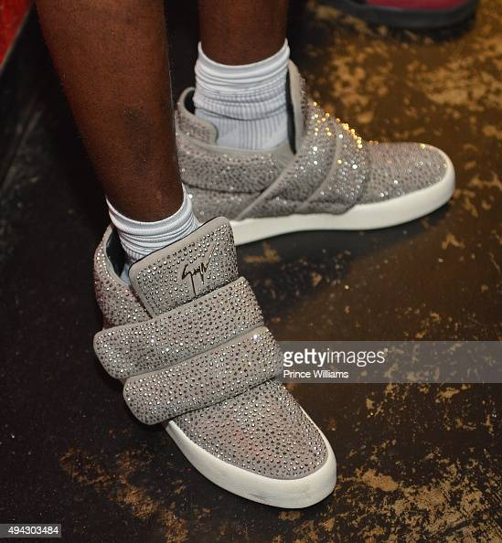 Young Thug Shoe Detail backstage at The Tabernacle on October 25 2015 in Atlanta Georgia