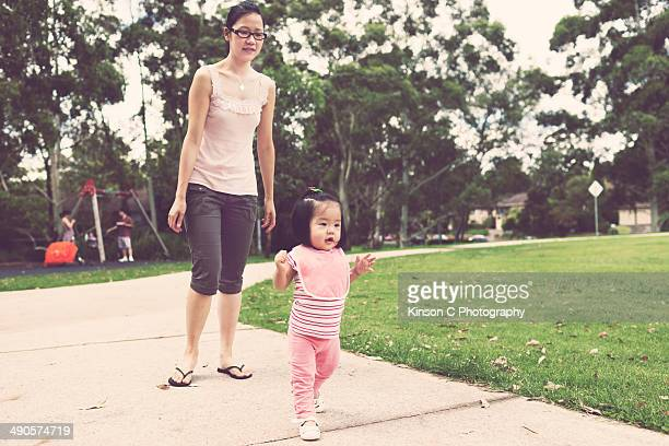 Young Toddler Learning To Walk