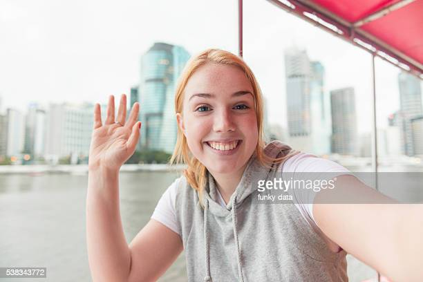 Young tourist girl in Australia