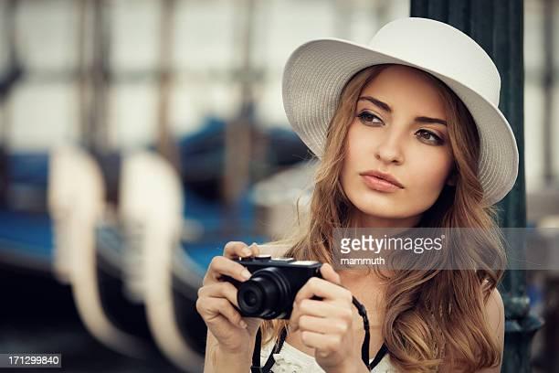 Junge Touristen in Venedig