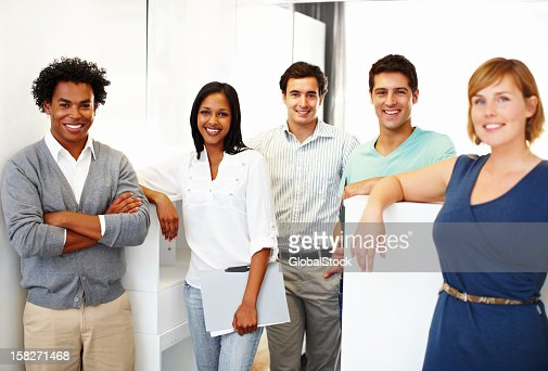 Young, trendy design gurus : Stock Photo