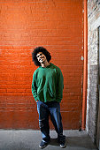Young Trendy Man With Afro